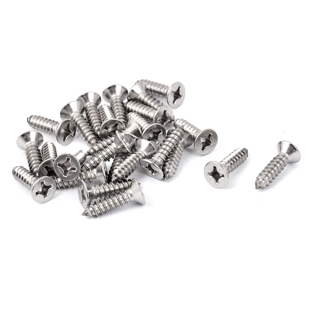 M5.5 x 22mm Phillips Flat Head Self Tapping Screw Fasteners 25 Pcs