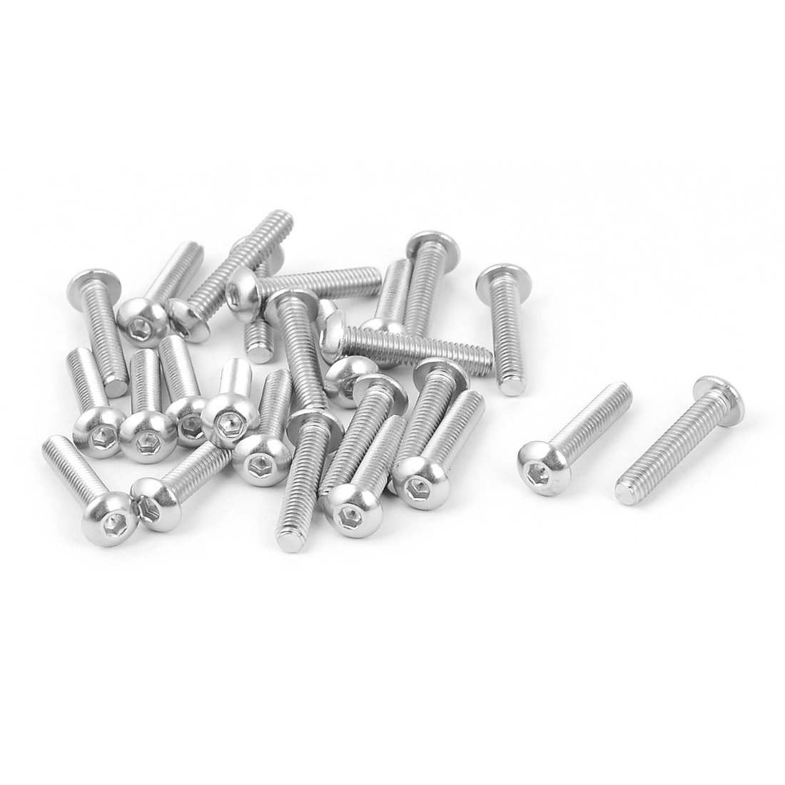 M4 x 20mm Stainless Steel Button Head Socket Cap Screw 25 Pcs