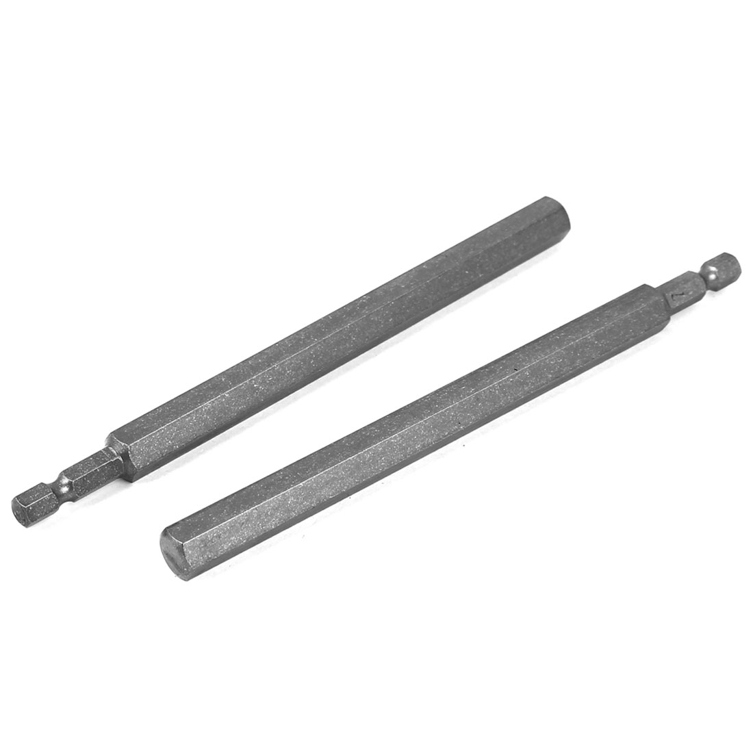 150mm Length 10mm Tip Hexagon Magnetic Screwdriver Insert Bits Gray 2 Pcs