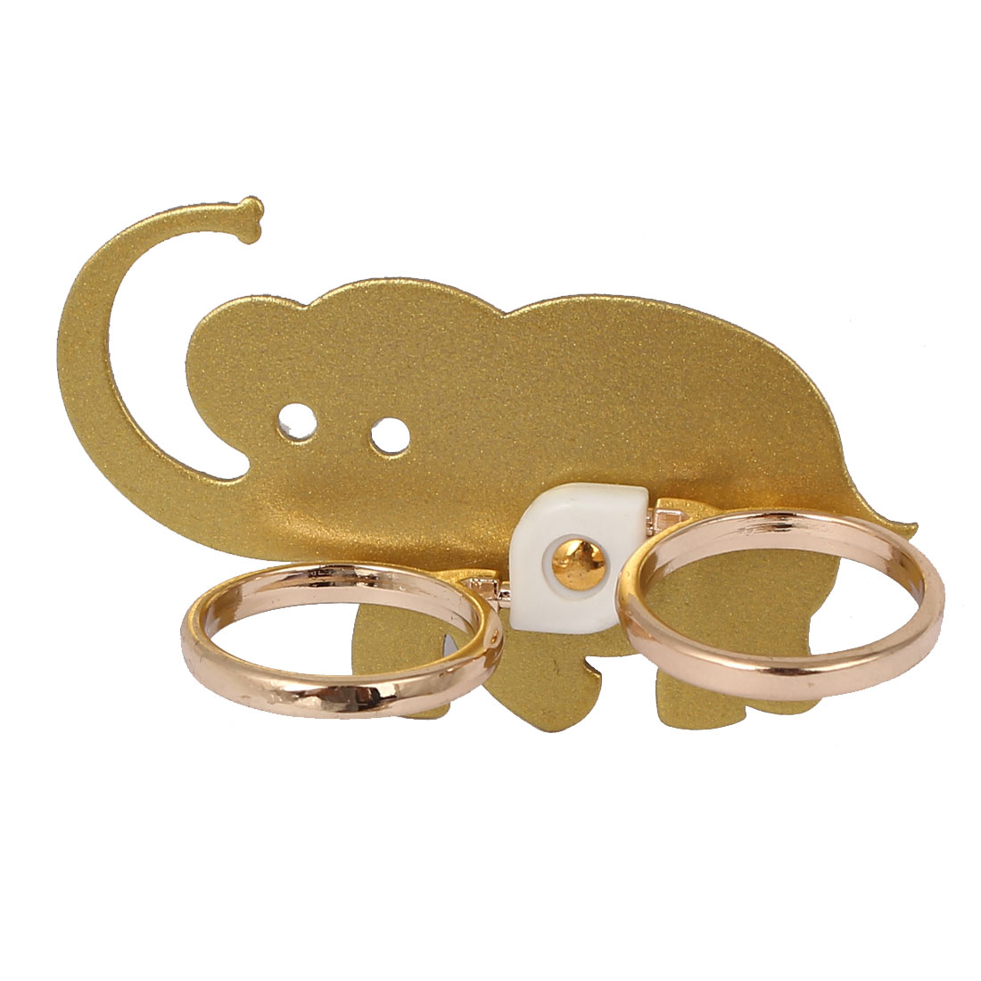 Mobile Phone Cellphone Elephant Pattern Adhesive Finger Ring Grip Stand Mount Gold Tone