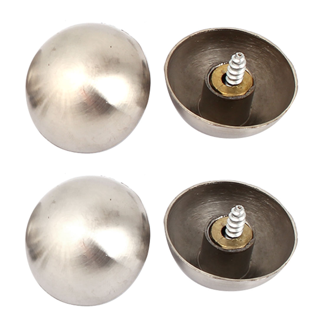 28mm Stainless Steel Screw Cap Mirror Nails Decorative Fittings 4 Pcs