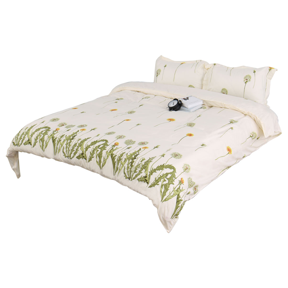 Floral Rattan Pattern Duvet Quilt Cover Pillowcase Bedding Set Super King Size