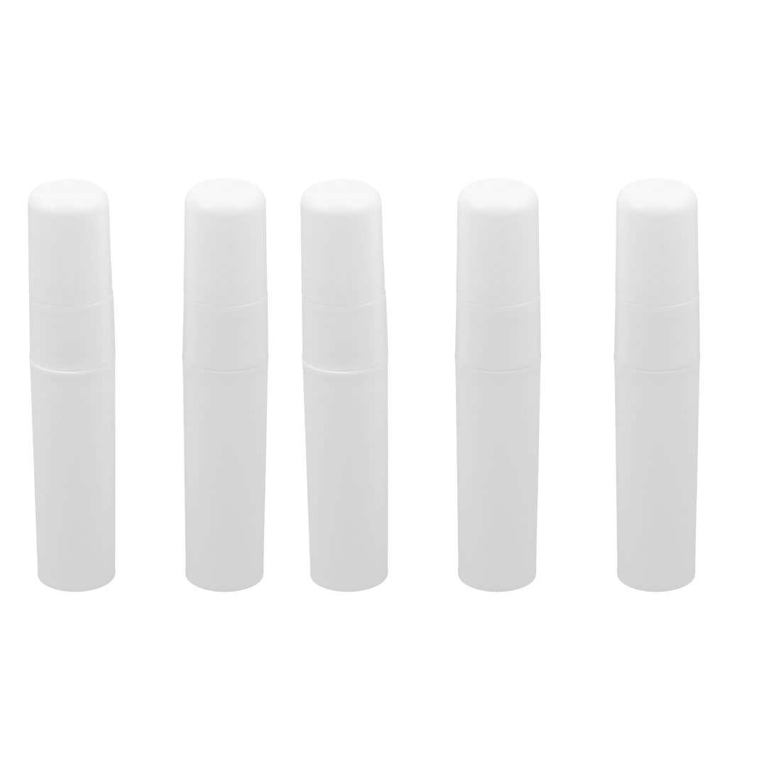 5pcs White Plastic Cosmetic Makeup Liquid Pump Spray Bottle Perfume Container Holder 5ml for Women