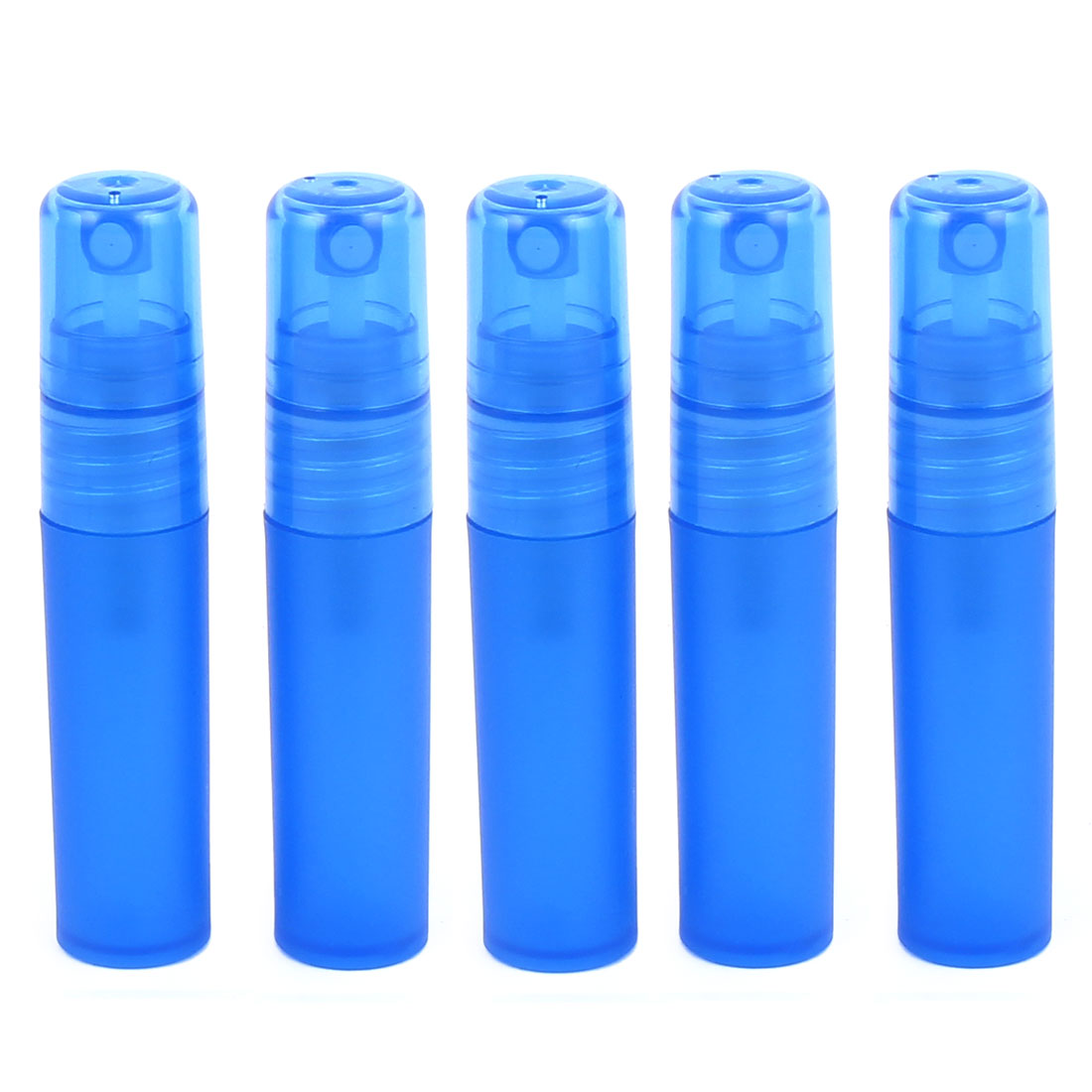 5pcs Dark Blue Plastic Empty Cosmetic Water Liquid Spray Bottle Perfume Container Holder 5ml for Lady