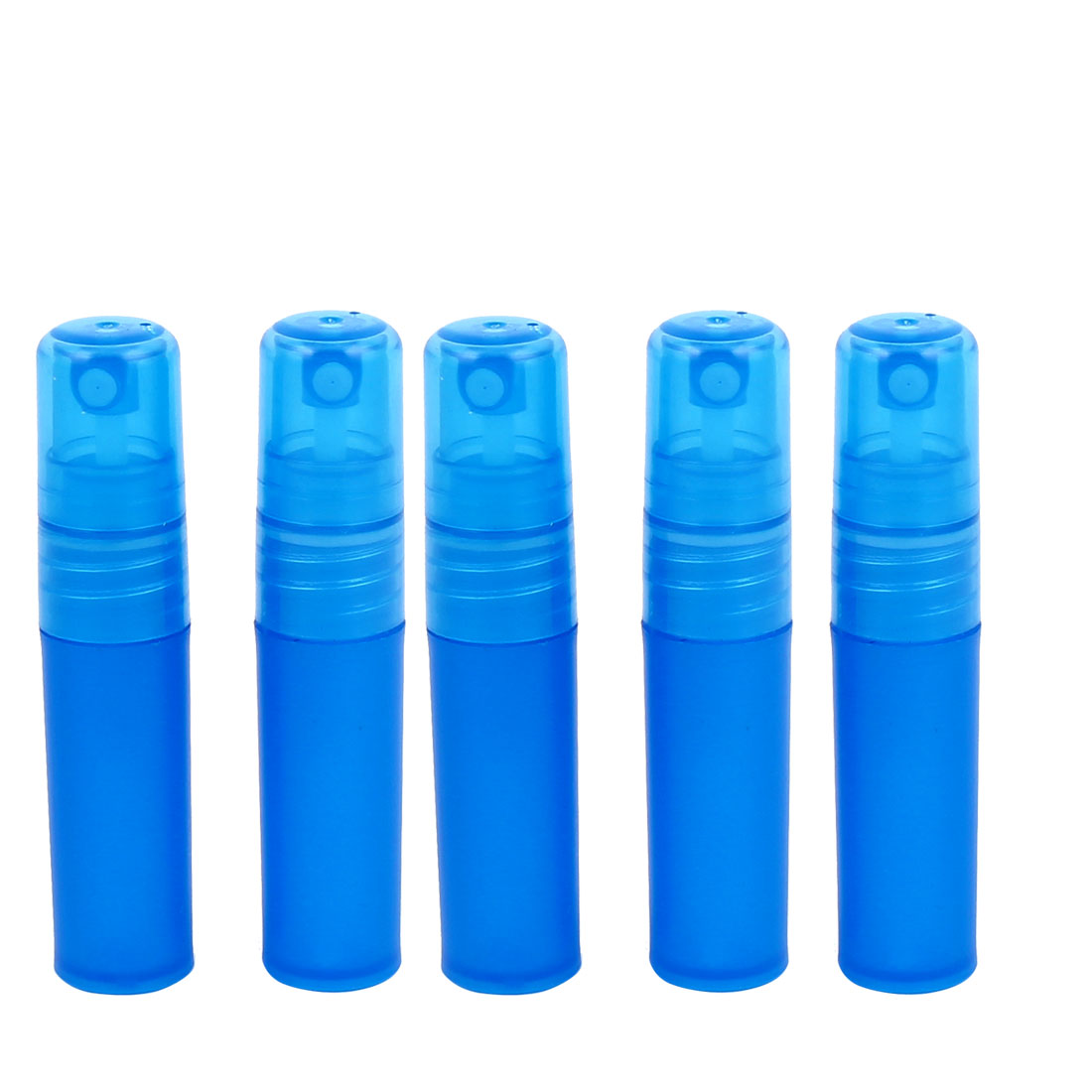 5pcs Dark Blue Plastic Cosmetic Water Liquid Spray Bottle Perfume Container Holder 3ml for Women