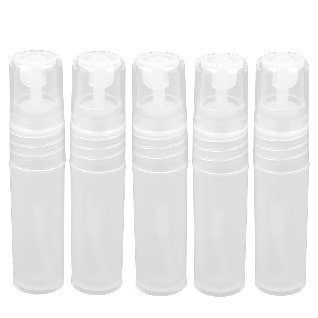 4pcs Plastic Cosmetic Skin Water Sprayer Spray Bottle Perfume Container Holder 3ml Clear