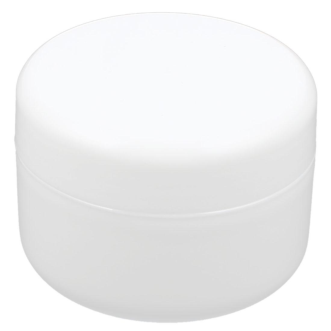 White Plastic Makeup Cosmetic Empty Jar Pot Face Cream Eyeshadow Moisturizer Bottle Holder 100g