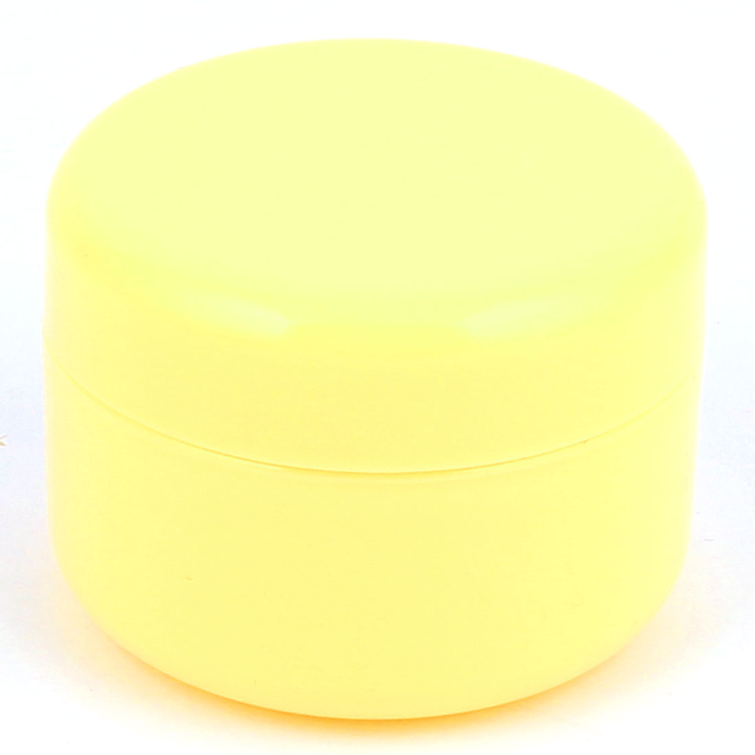 Yellow Plastic Round Cosmetic Empty Jar Pot Face Cream Eyeshadow Moisturizer Bottle Container 100g