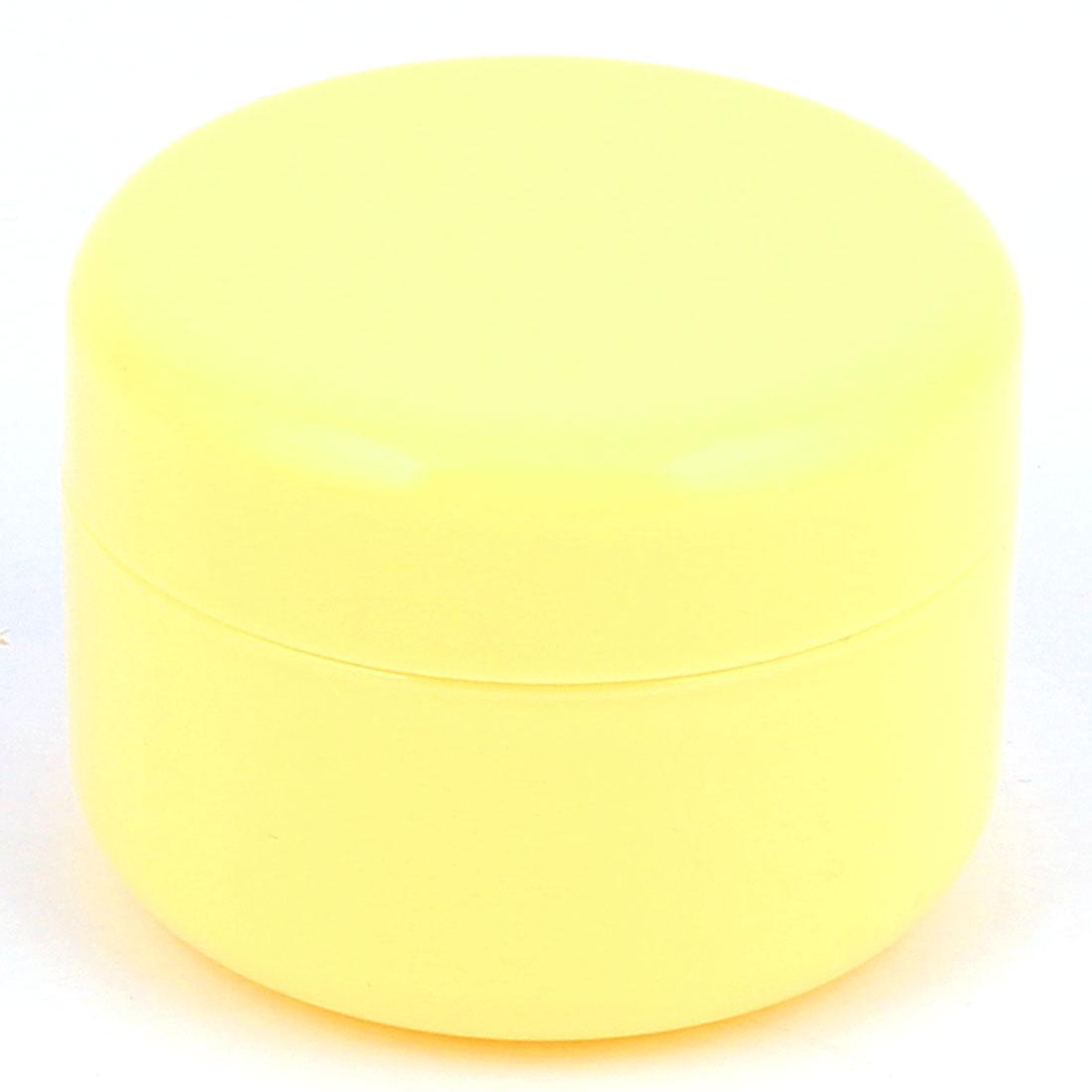 Yellow Plastic Round Cosmetic Empty Jar Pot Face Cream Eyeshadow Moisturizer Bottle Container 100g