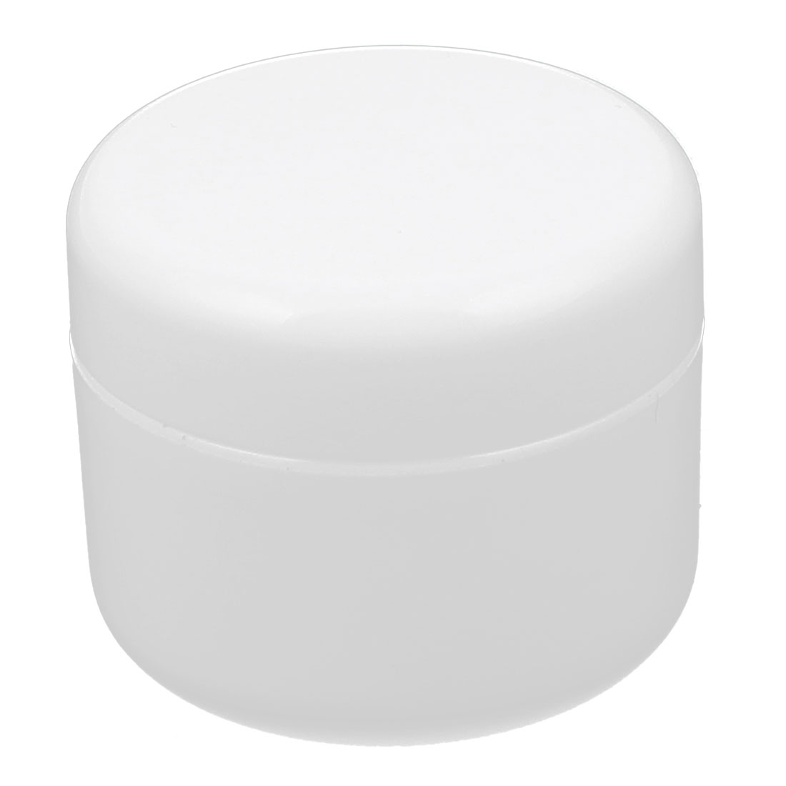 White Plastic Cosmetic Empty Jar Pot Face Cream Eyeshadow Moisturizer Holder Container 50g for Lady