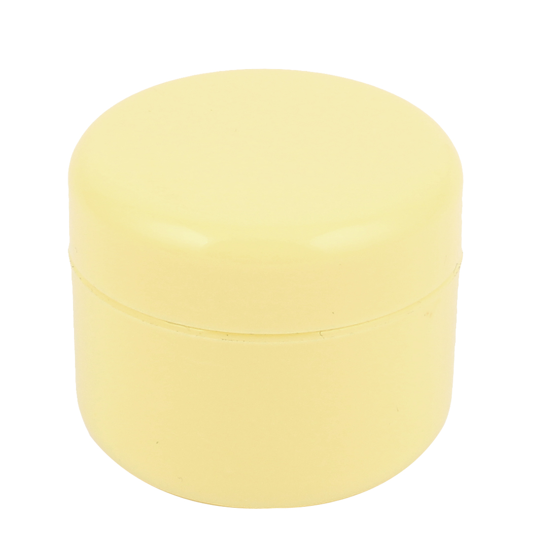 Yellow Plastic Cosmetic Empty Jar Pot Face Cream Eyeshadow Skin Lotion Holder Container 50g for Lady