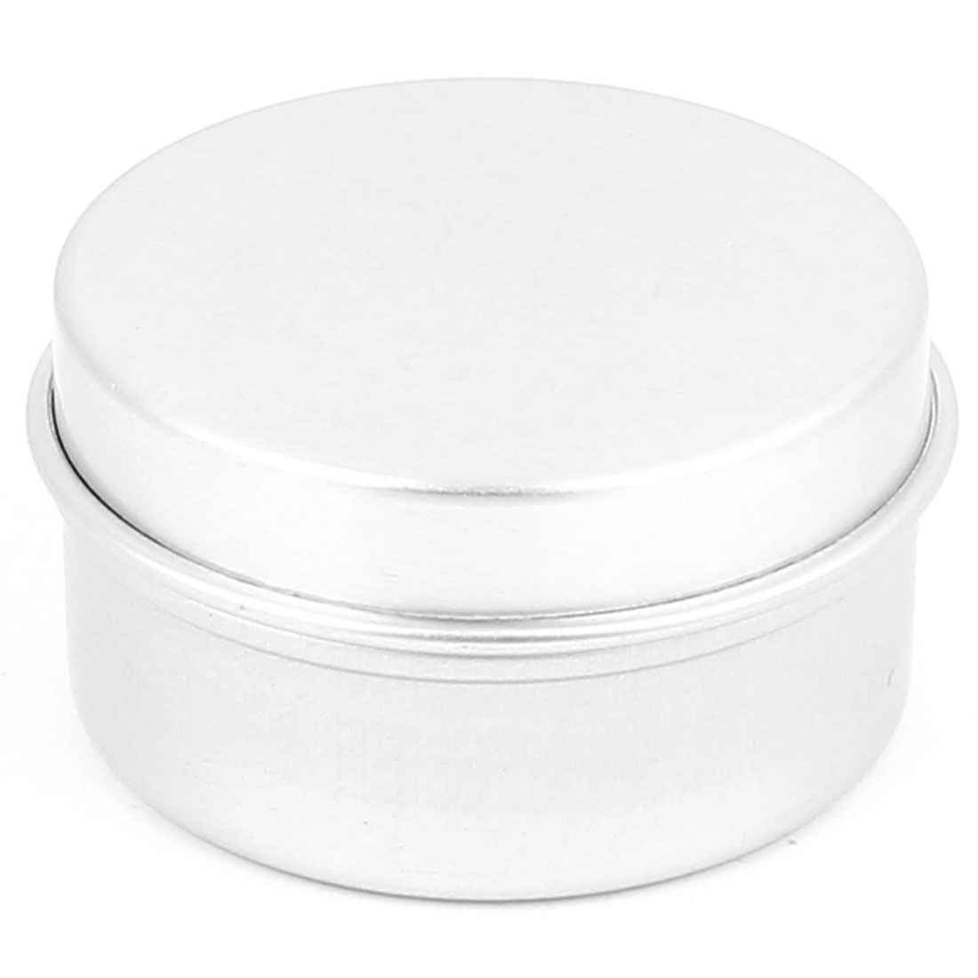 Silver Tone Aluminum Cosmetic Empty Jar Pot Lip Gloss Balm Eyeshadow Box Container Holder 20g
