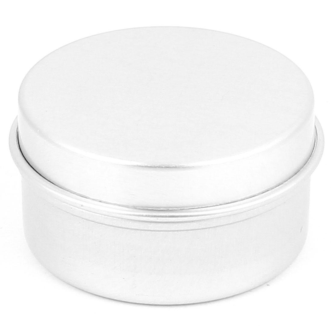 Silver Tone Aluminum Cosmetic Empty Jar Pot Lip Gloss Balm Eyeshadow Box Container Holder 20g