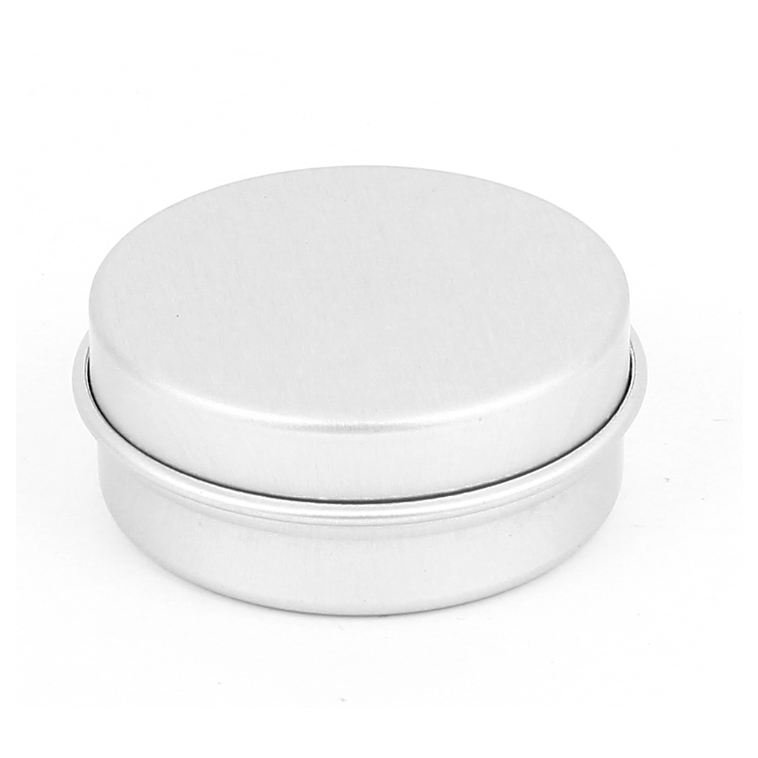 Silver Tone Aluminum Cosmetic Empty Jar Pot Lip Gloss Balm Eyeshadow Case Container Holder 10g
