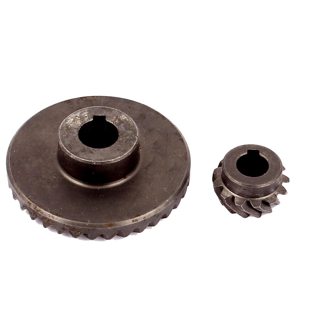 Spare Part Metal Electric Angle Grinder Spiral Bevel Gear Set Dark Gray