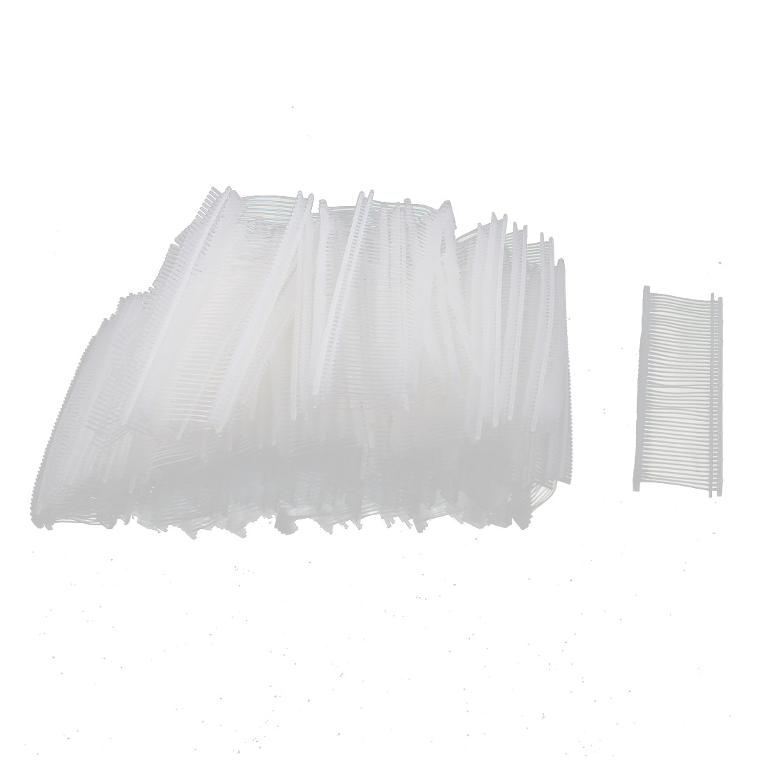 Clothes Shoes PP Tag Tagging Pins Barbs Fasteners Clear White 25mm Long 5000pcs