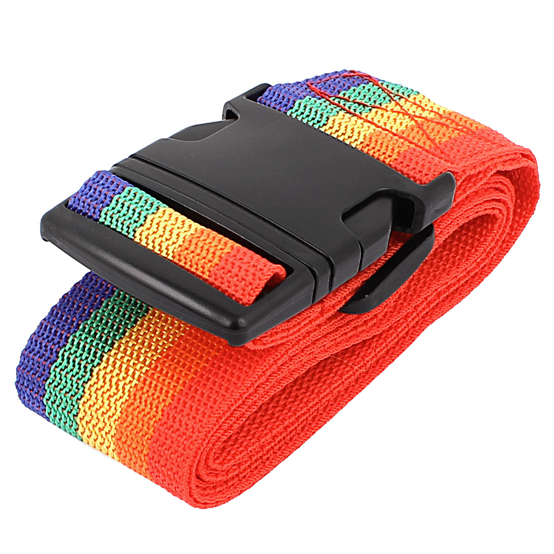 Plastic Buckle Luggage Suitcase Backpack Baggage Adjustable Belt Strap Multicolor 2 Meter