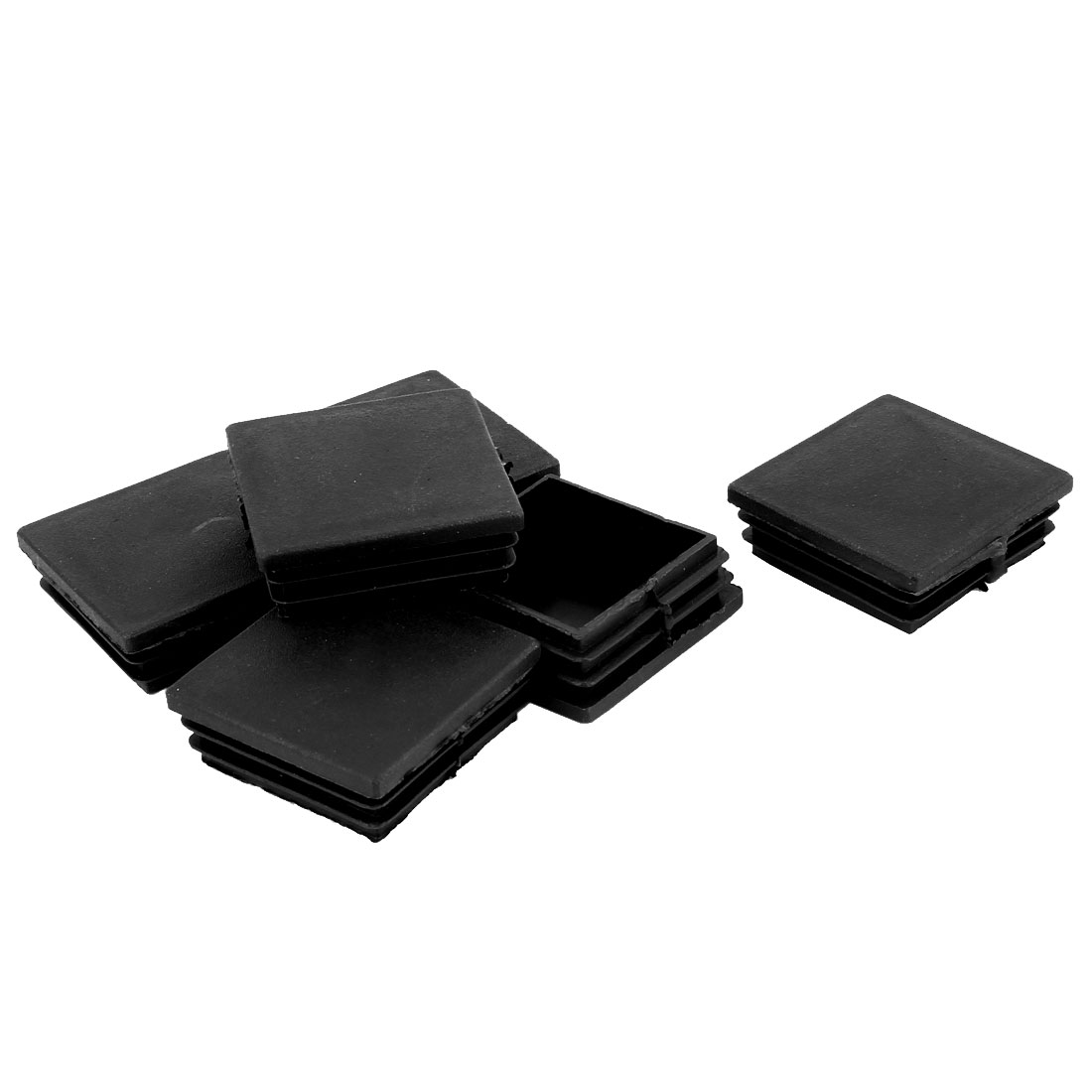 50mm x 50mm Plastic Square Tubing Tube Inserts End Blanking Cover Black 6 Pcs