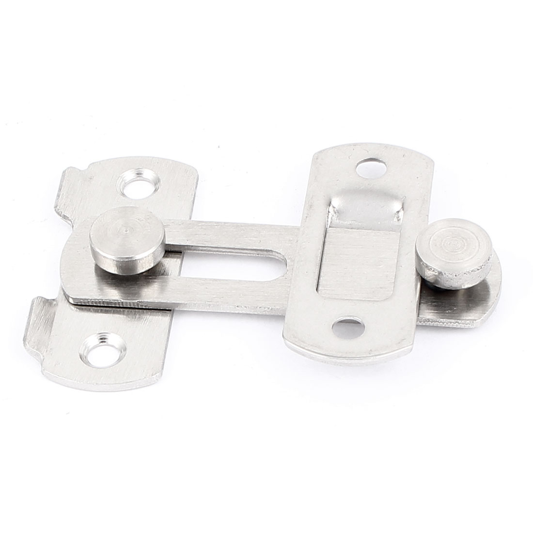 Cabinet Door Closet Metal Hasp Catch Latch Silver Tone 8.5cm Long w Screws