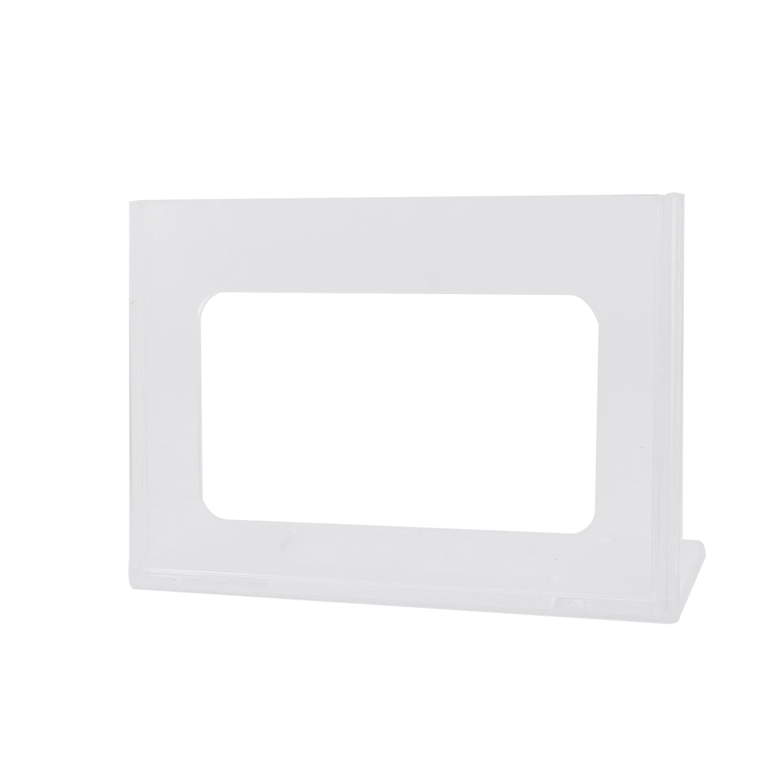 Restaurant Menu Table Number Plastic L Shaped Card Display Holder Stand Clear