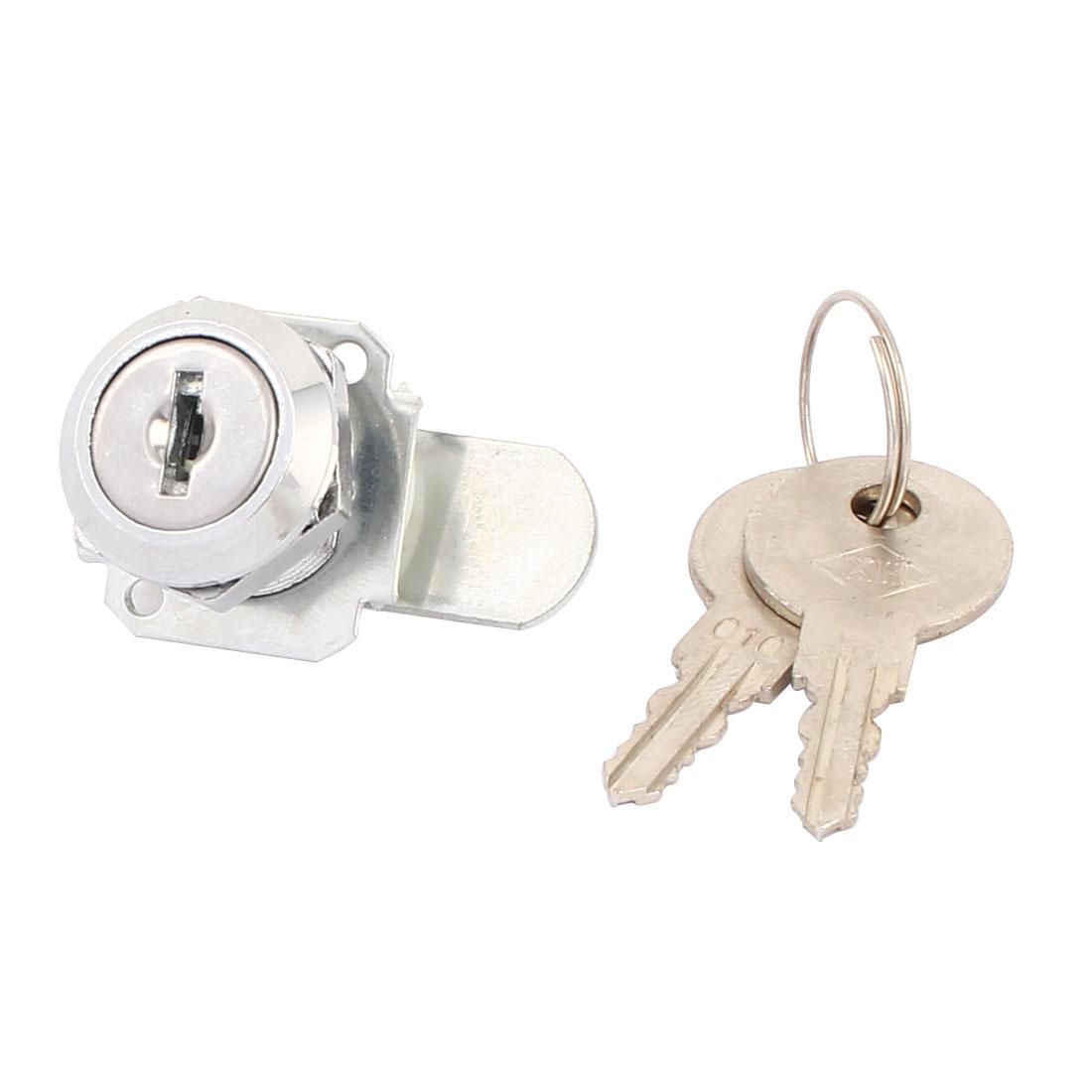 Cupboard Cabinet Mailbox Drawer Door Security Cam Chest Lock Camlock w 2 Keys