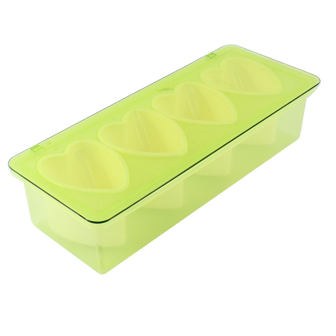 Bar Kitchen 4 Compartments Condiment Holder Container Dispenser Tray Green