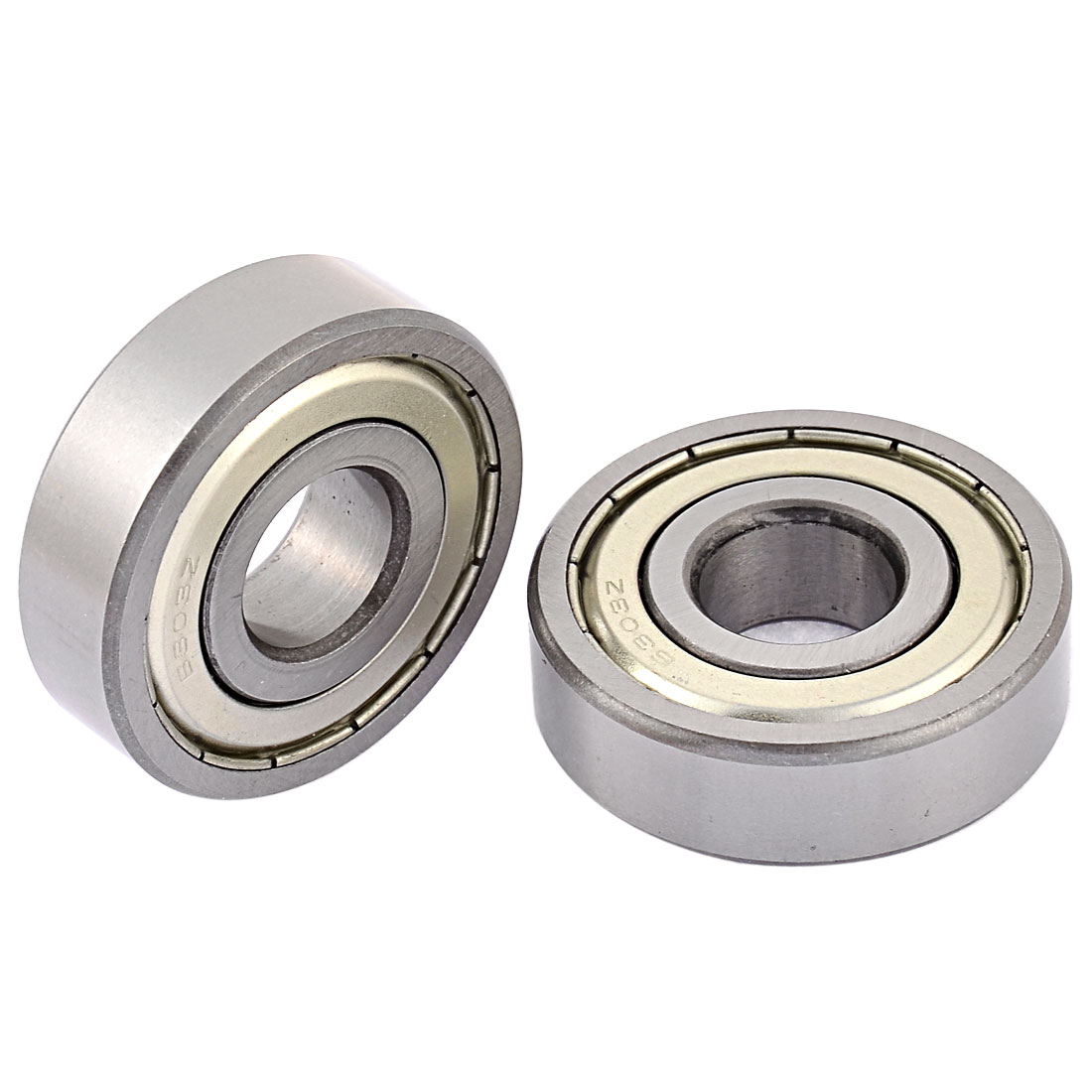 2Pcs 6303Z 17x47x14mm Metal Sealed Double Shielded Deep Groove Ball Bearing