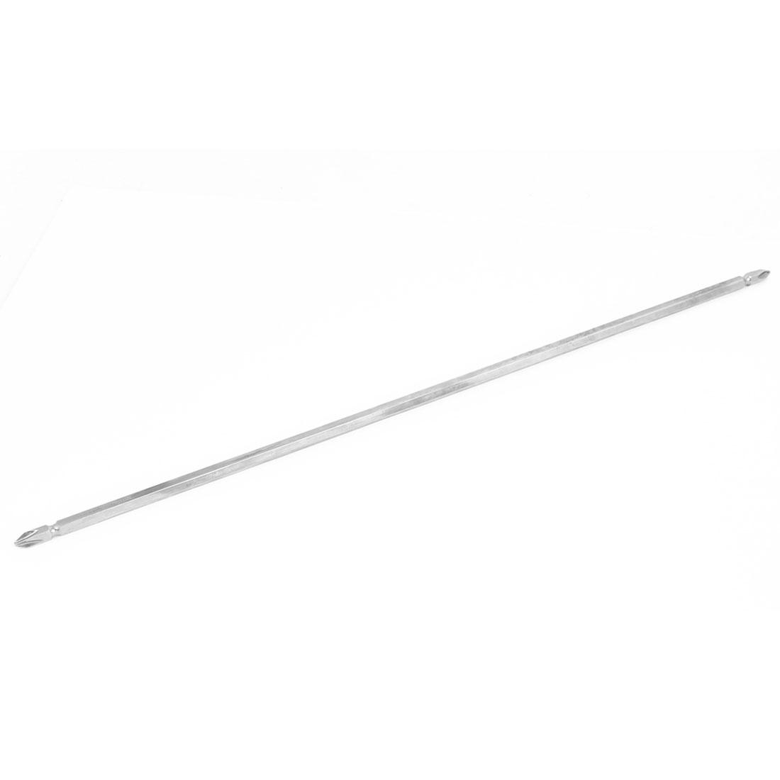 Magnetic PH2 Double End Phillips Screwdriver Bit Gray 40cm Length