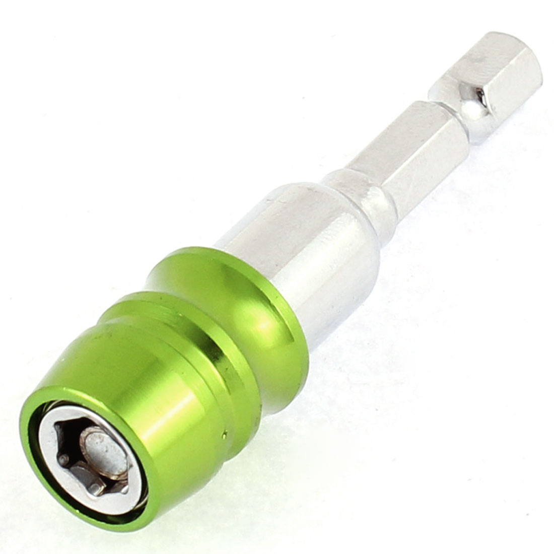 14mm x 60mm Metal Magnetic Hex Socket Nut Driver Bit Green