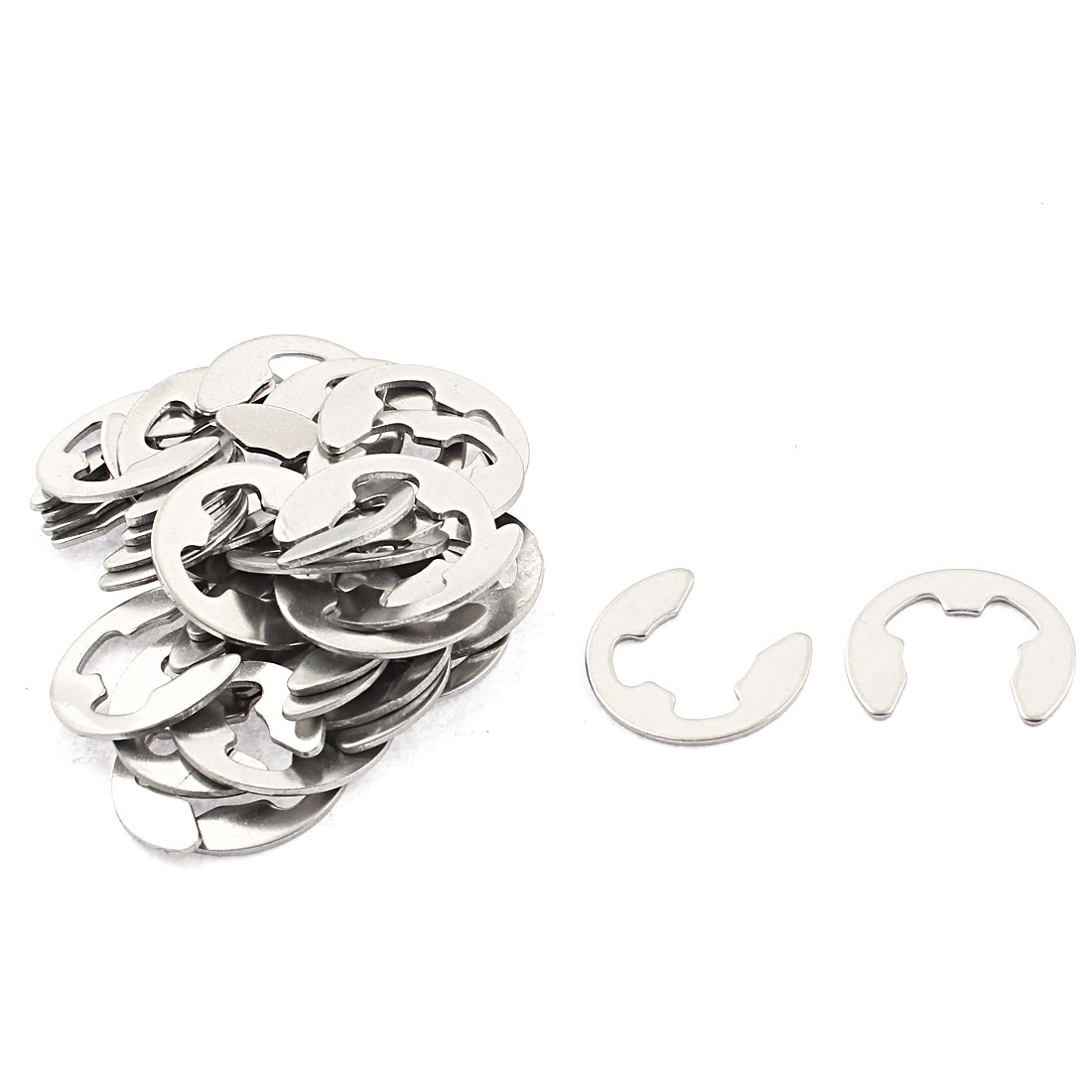 12mm Stainless Steel Retaining Ring Fastener E-Clip Circlip Silver Tone 32pcs