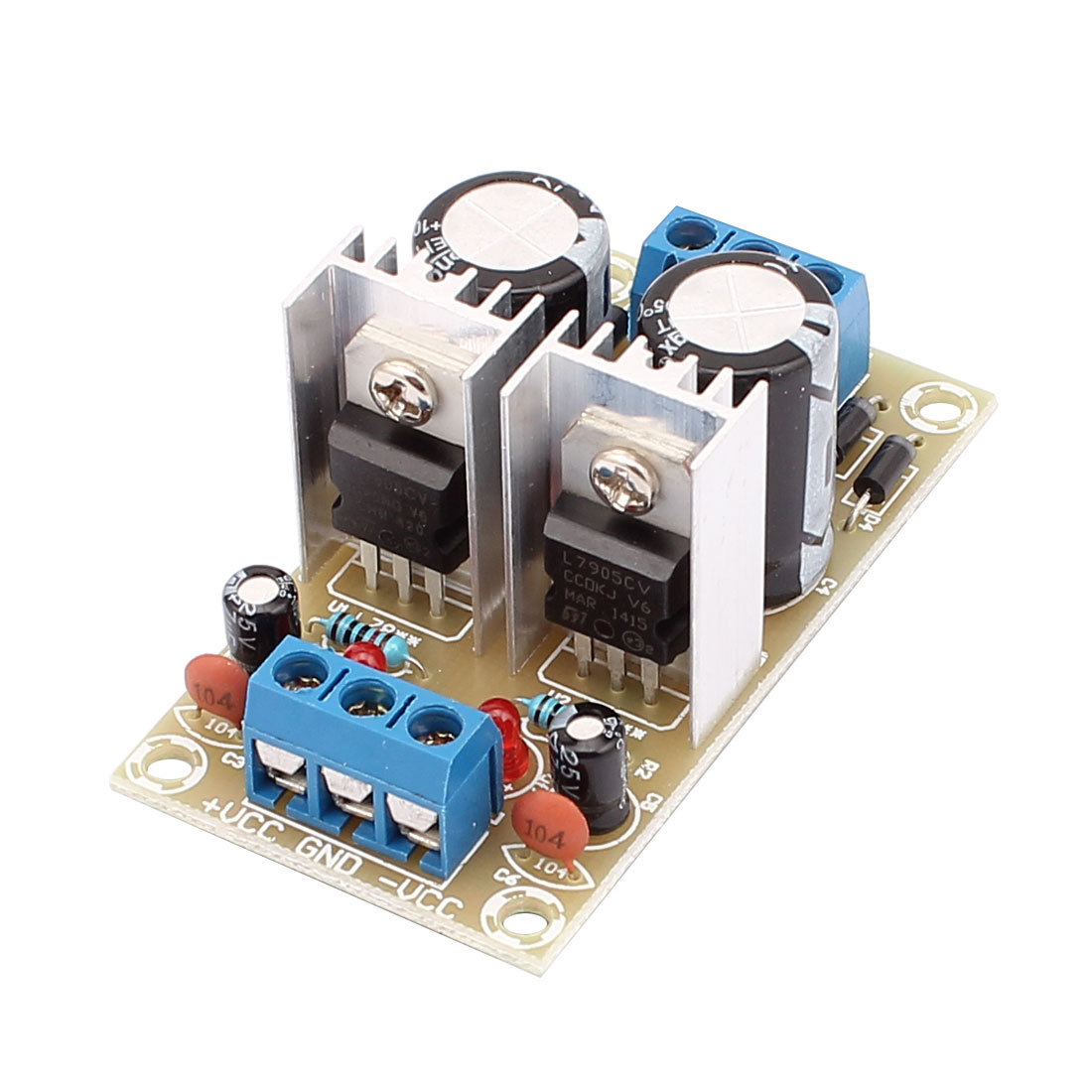 L7805 L7905 DC +/-5V Output Dual Voltage Regulator Module 62mm x 33mm x 25mm