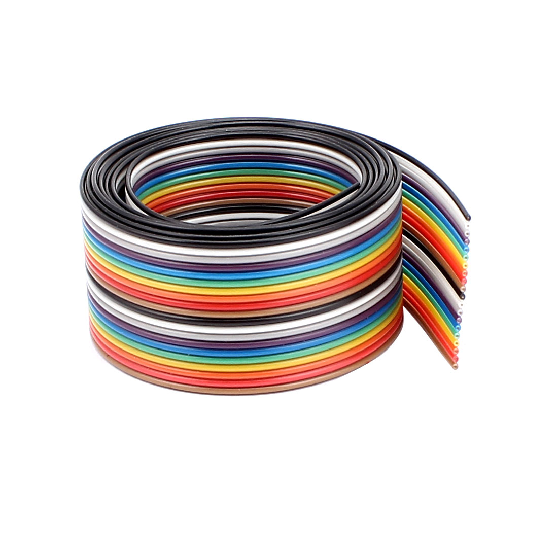 1.25mm Pitch 20 Way Ribbon Breadboard Jumper Cable Wire Rainbow Color 90CM 3Ft