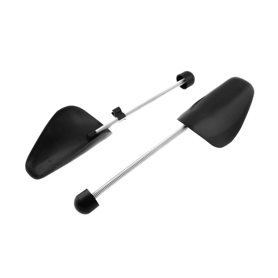 Men Women Spring Loaded Plastic Shoe Stretcher Shaper Keeper Black Pair