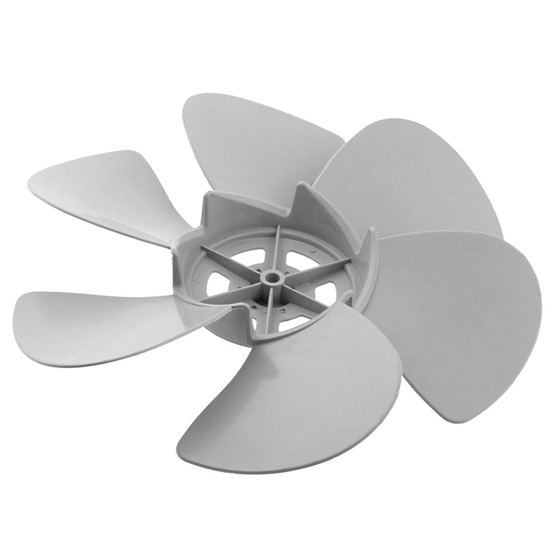 290mm Diameter 8mm Shaft Hole Plastic Home Kitchen Ventilator Fan Vane Gray
