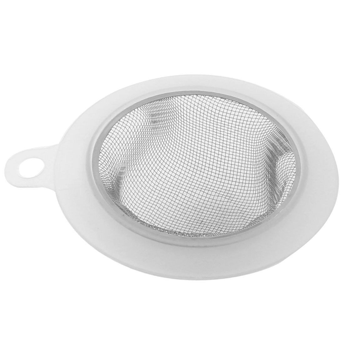 113mm Dia Home Kitchen Sink Basin Drain Waste Filter Strainer Silver Tone Clear