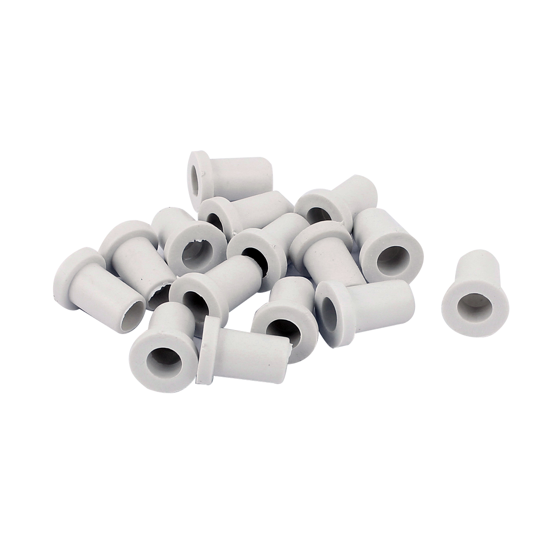 10 Pcs 15mm x 7.5mm x 6mm Strain Relief Cord Boot Protector Cable Hose White