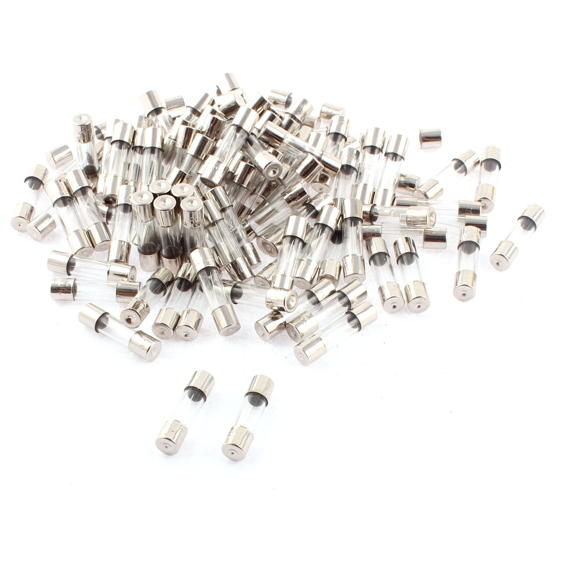 250V 3A 5mm x 20mm Quick Acting Fast Blow Type Glass Tube Fuse 100pcs