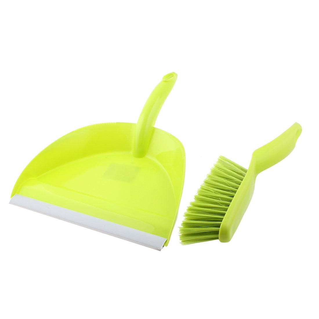 Home Computer Keyboard Desktop Car Plastic Mini Cleaning Broom Dustpan Set Green