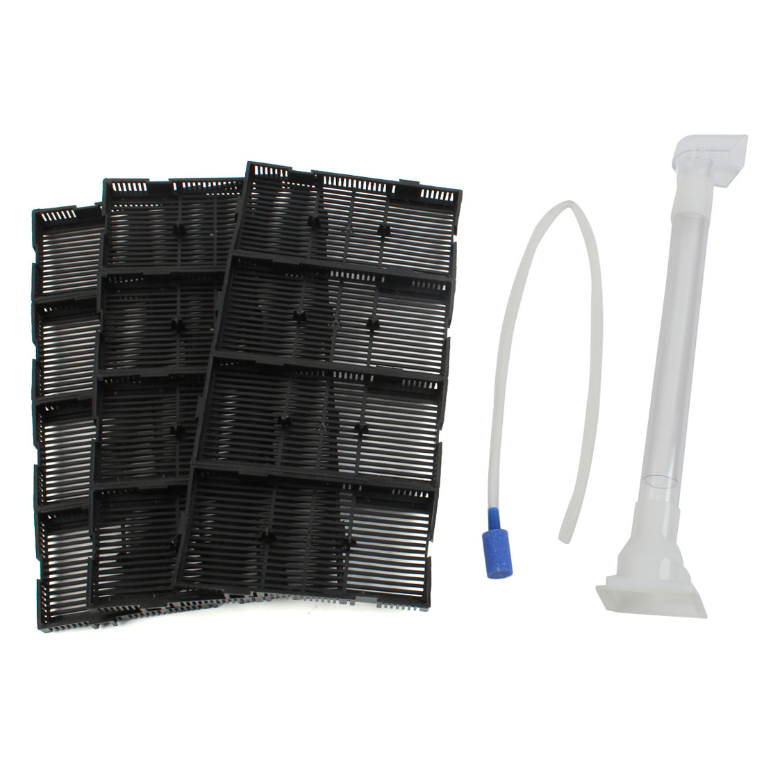 Aquarium Fish Tank Plastic Air Hose Tube Undergravel Filter Plate Black 12pcs