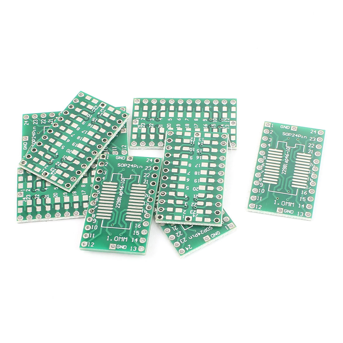 8 Pcs 30mm x 18mm SOP 24Pins PCB One-sided Adapter Converter Board