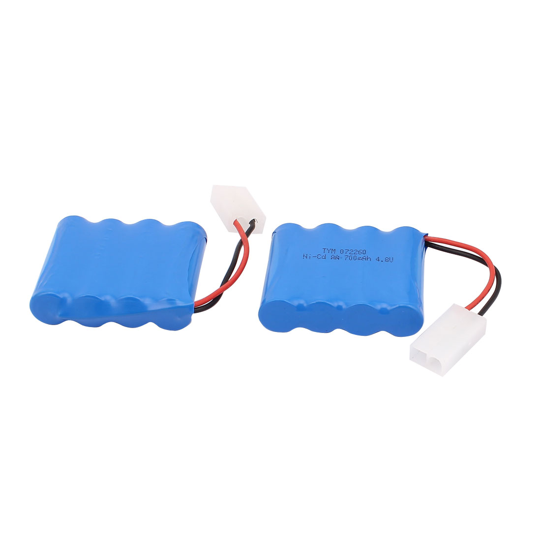 2PCS 4.8V 700mAh 2P Rechargeable Ni-Cd Battery for RC Airplane Car