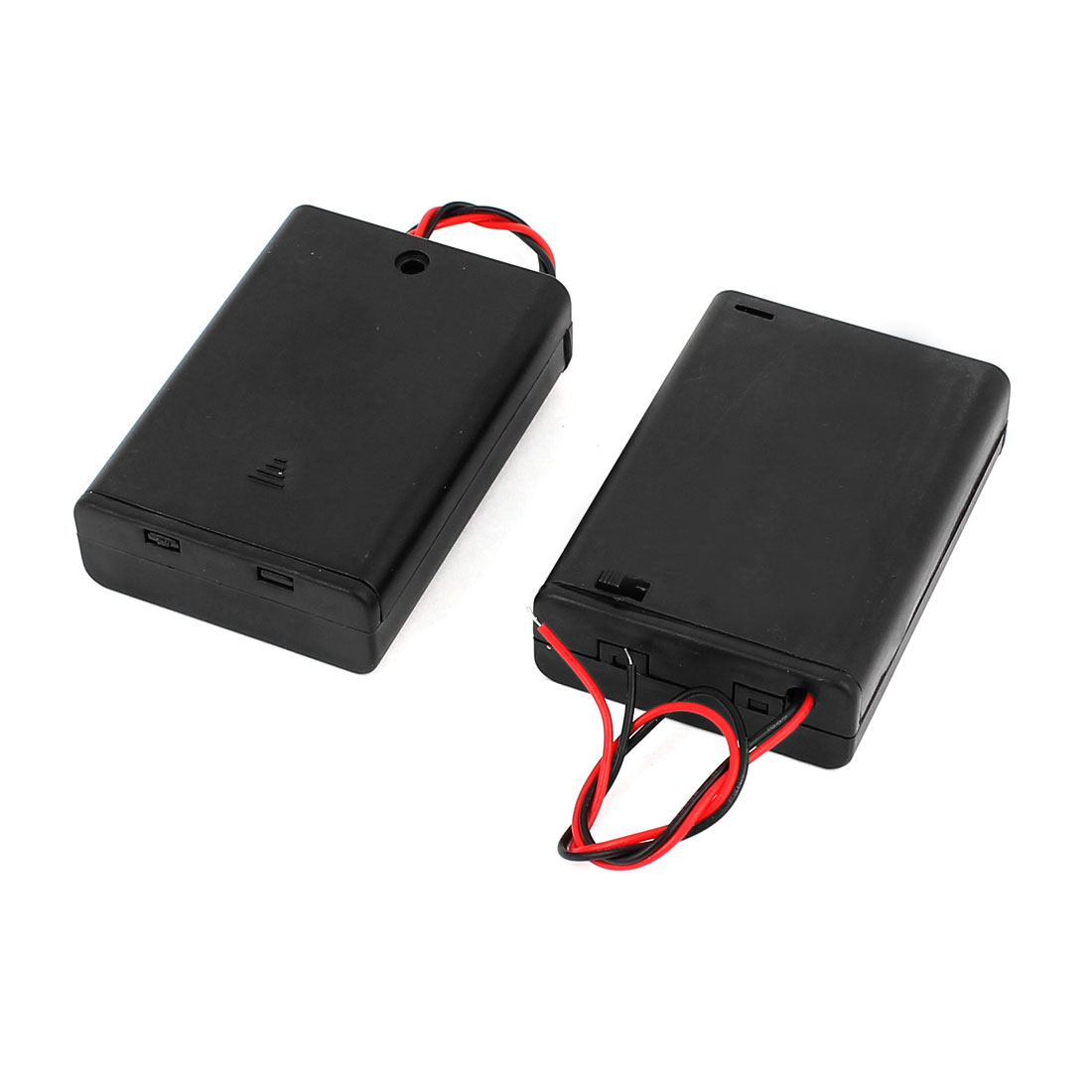 2PCS ON/OFF Switch 2 Wires Batteries Holder Box w Cover for 3x1.5V AA Battery