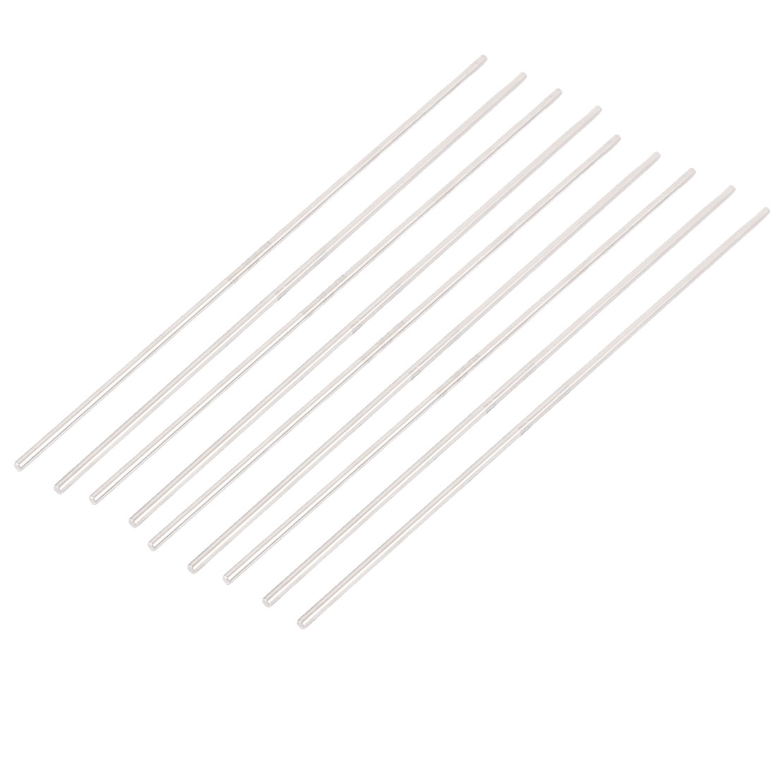 9 Pcs 3mm x 200mm Stainless Steel Solid Round Rod Bar