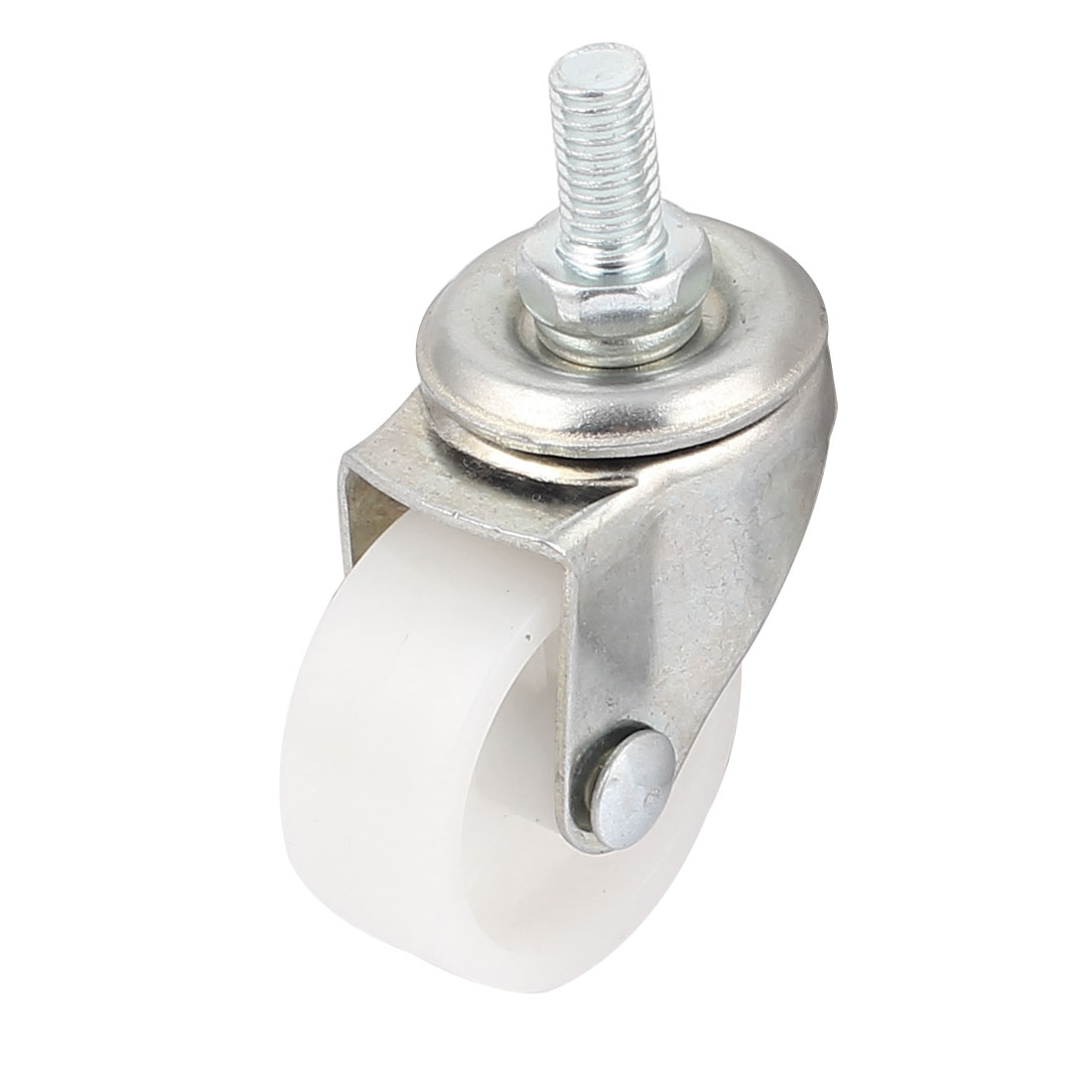 "Rotary Plate 7.5mm Thread 1.5"" Dia Nylon Ball Bearing Swivel Caster Wheel"