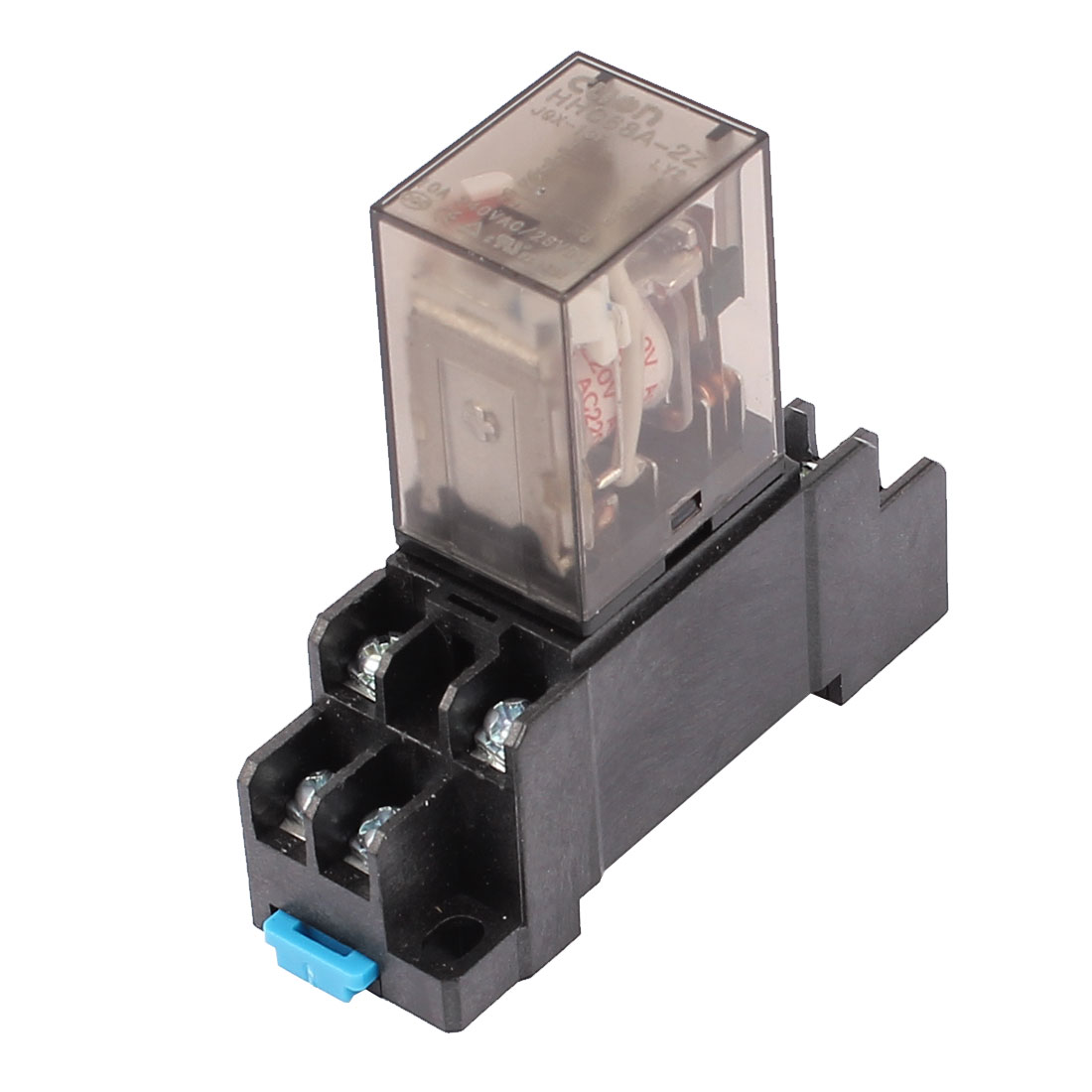 HHC68A-2Z AC 220V Coil 8Pin DPDT Electromagnetic Power Relay w Socket Base
