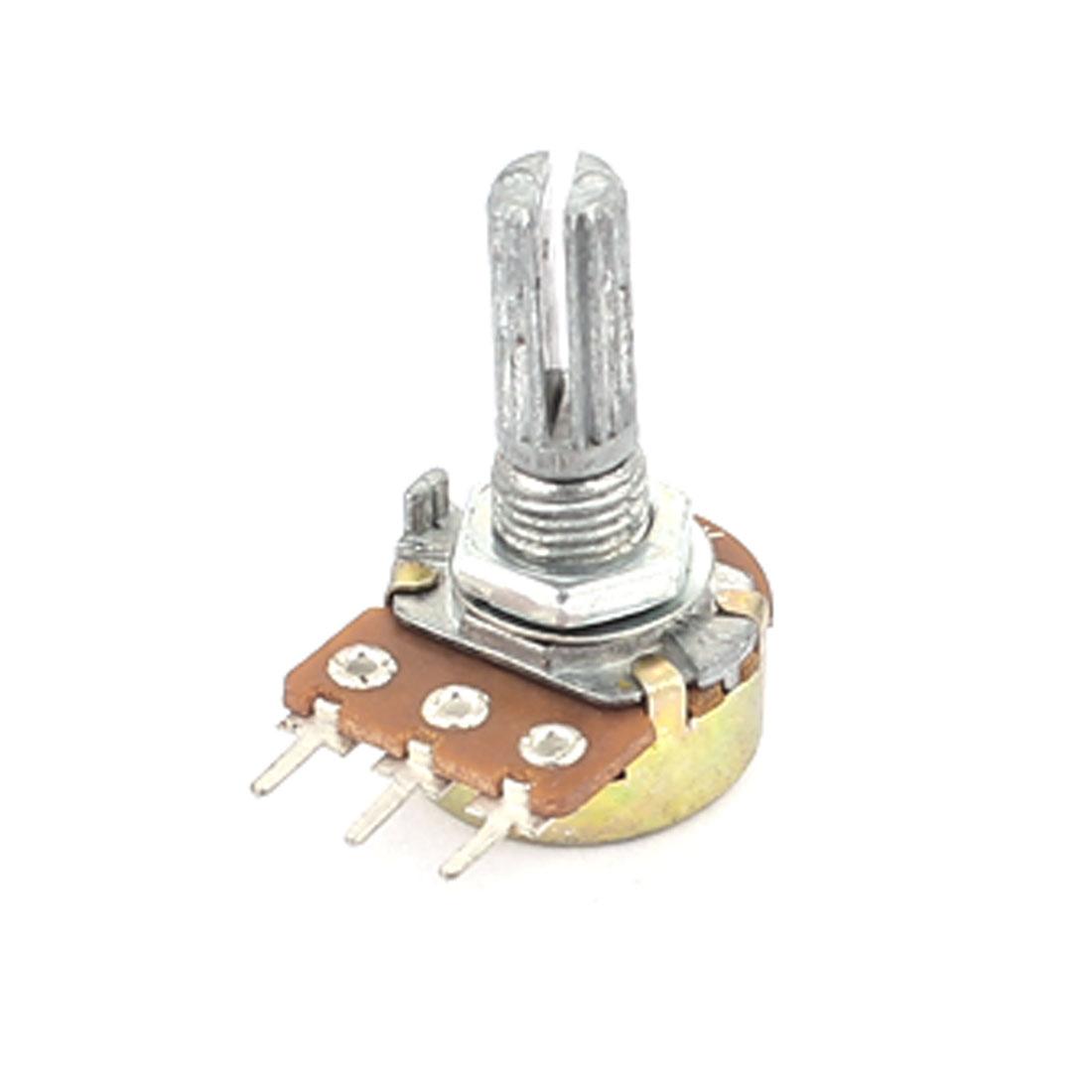 10K Ohm 3 Terminals Single Linear Audio Pot Rotary Taper Potentiometer