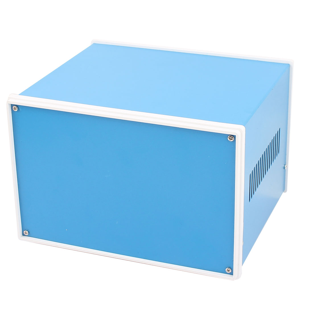 Metal Electronic Project Junction Box Enclosure Case Blue 202mm x 182mm x 135mm