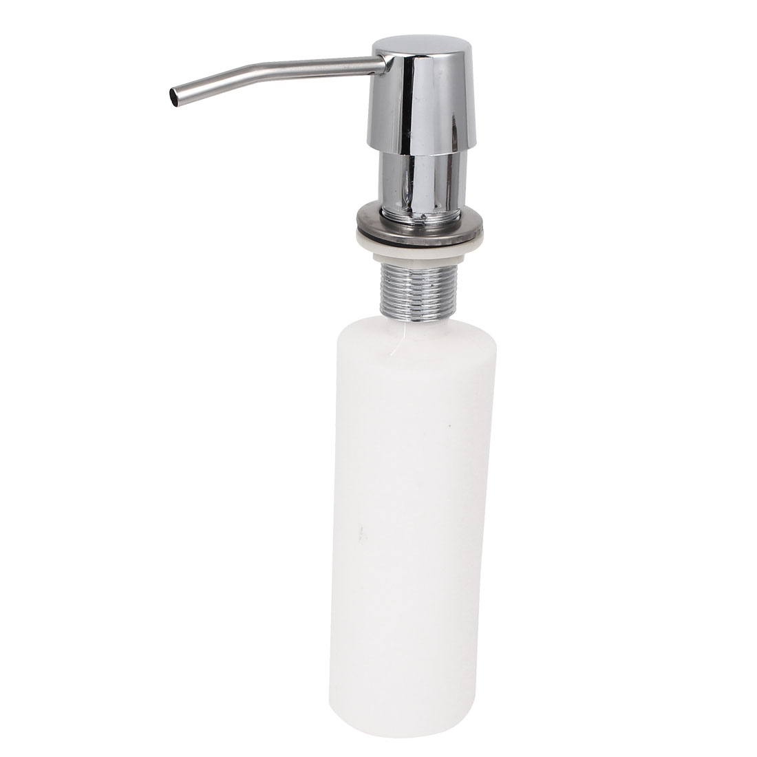 Household Bathroom Kitchen Stainless Steel Head Liquid Soap Faucet Sink Pump