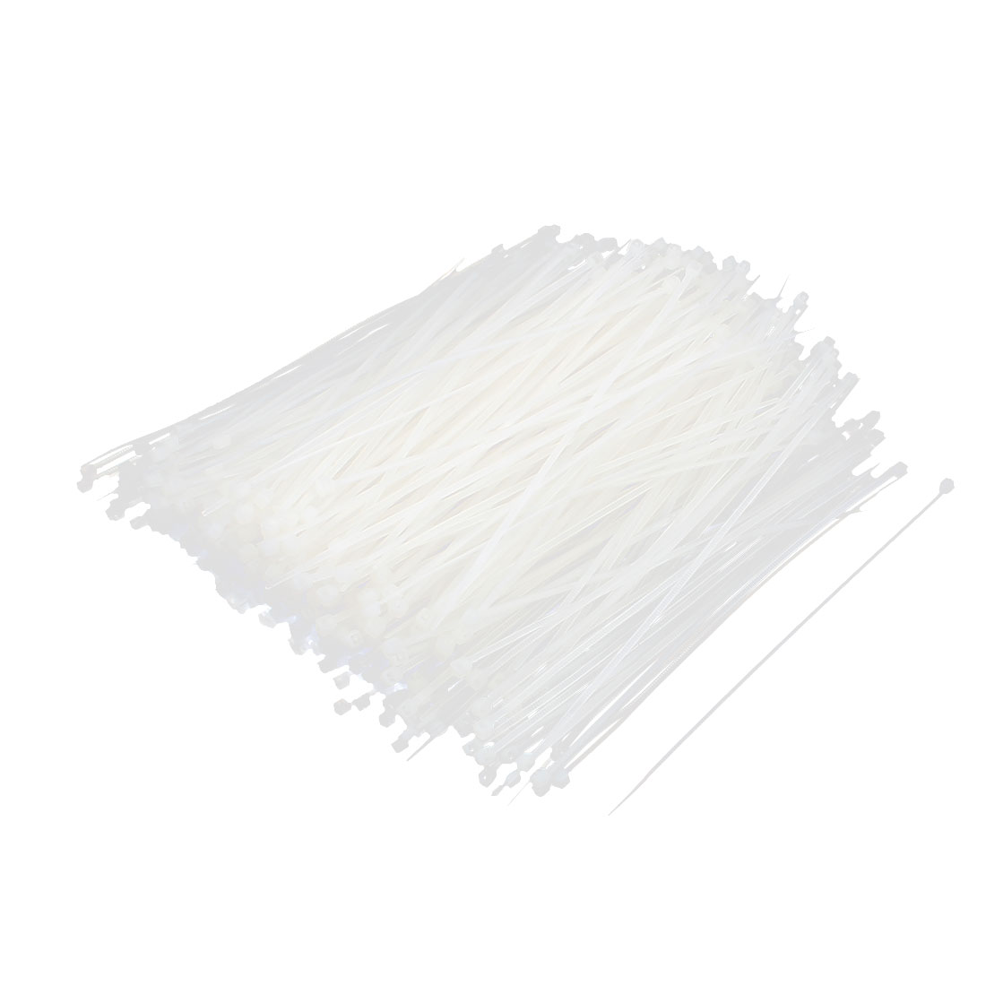 685 Pcs 150x2mm Nylon Cable Core Wire Zip Tie Straps Reusable Fasteners White