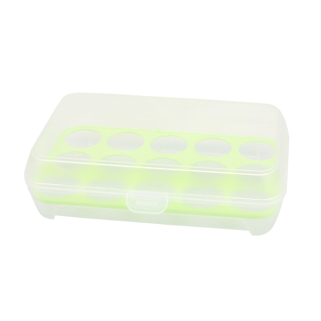 Outdoor Picnic Camping 15 Eggs Container Holder Box Case Storage Green